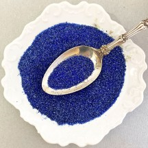 German Glass Glitter in Cobalt Blue ~ Fine Grit ~ 2 oz in Jar