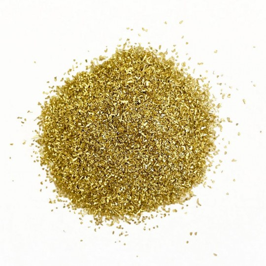 German Glass Glitter in Gold ~ Fine Grit ~ 2 oz in Jar