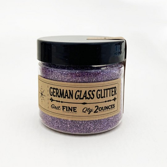 German Glass Glitter in Light Purple ~ Fine Grit ~ 2 oz in Jar
