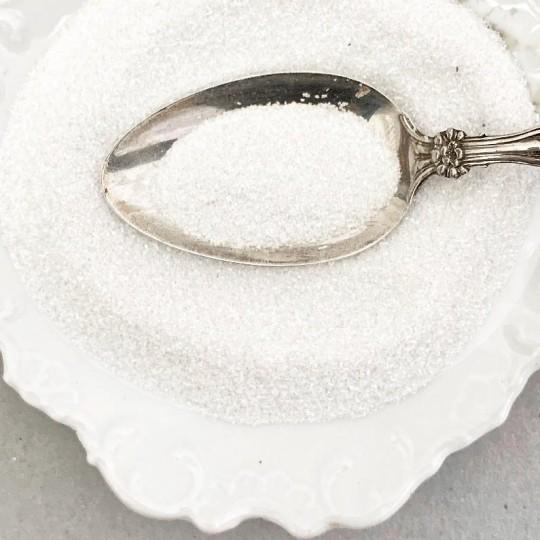 German Glass Glitter in Pearl White ~ Fine Grit ~ 2 oz in Jar