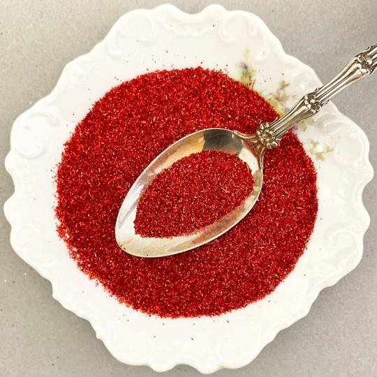 1 oz German Glass Glitter in Ruby Red ~ Fine Grit