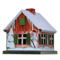 Winter Snowman House Incense Smoker ~ Germany