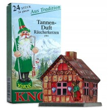 Gingerbread House Incense Smoker with Box of Pine Incense ~ Germany ~ Gift Boxed