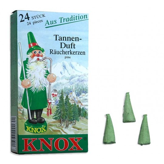 24 Medium Incense Cones in Pine Scent ~ Germany