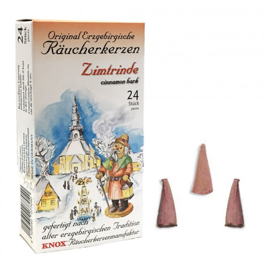 24 Medium Incense Cones in Cinnamon Bark Scent ~ Special for Christmas ~ Germany
