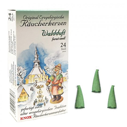 24 Medium Incense Cones in Forest Scent ~ Special for Christmas ~ Germany