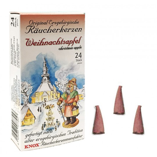 24 Medium Incense Cones in Christmas Apple Scent ~ Special for Christmas ~ Germany