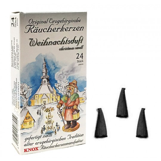24 Medium Incense Cones in Christmas Scent ~ Special for Christmas ~ Germany