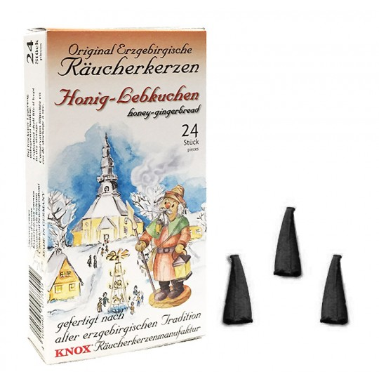 24 Medium Incense Cones in Honey Gingerbread Scent ~ Special for Christmas ~ Germany