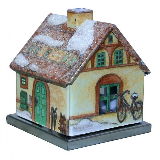 Winter Townhouse Incense Smoker ~ Germany