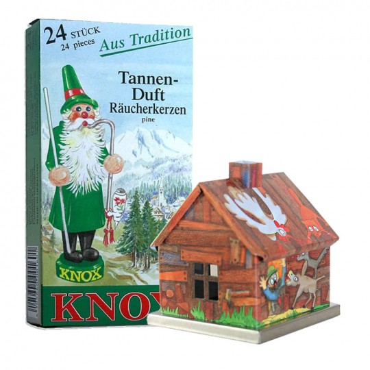 Bremertown Musicians Fairytale House Incense Smoker with Box of Pine Incense ~ Germany ~ Gift Boxed