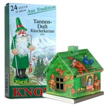 Green Snow White Fairytale House Incense Smoker with Box of Pine Incense ~ Germany ~ Gift Boxed