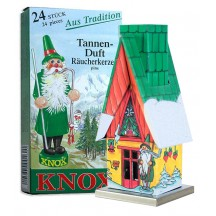 Gnome Christmas Cottage Incense Smoker with Box of Pine Incense ~ Germany ~ Gift Boxed