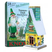 Yellow and Green Wintertime Garden Shed Incense Smoker with Box of Pine Incense ~ Germany ~ Gift Boxed