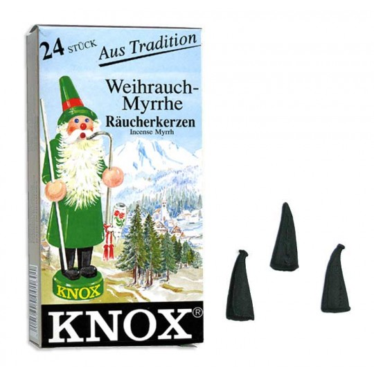 24 Medium Incense Cones in Myrrh ~ Germany
