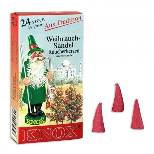24 Medium Incense Cones in Sandal ~ Germany