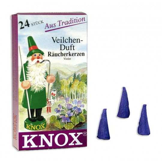 24 Medium Incense Cones in Violet ~ Germany