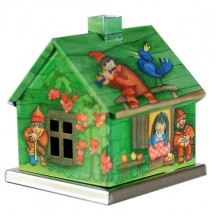 Green Snow White Fairytale House Incense Smoker ~ Germany
