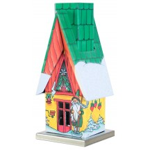 Gnome Christmas Cottage Incense Smoker ~ Germany