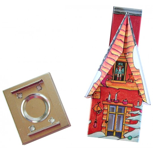 Red Snowman Cottage Incense Smoker with Box of Pine Incense ~ Germany ~ Gift Boxed