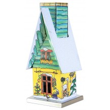Yellow and Green Wintertime Garden Shed Incense Smoker ~ Germany