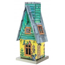 Yellow and Green Springtime Garden Shed Incense Smoker ~ Germany