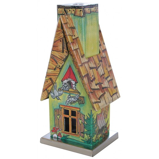 Green Springtime Forest Cottage Incense Smoker ~ Germany
