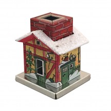 Miniature Train Station Incense Smoker House ~ Germany
