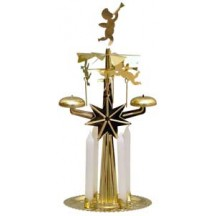 Spinning Angel Chime Candle Holder with 4 Candles ~ Lichter Glocken Spiel