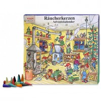 Knox Incense Advent Calendar Filled with 24 Incense Cones in Mixed Scents ~ Elf Workshop
