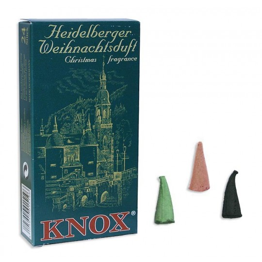 24 Medium Incense Cones in Assorted Christmas Scents ~ Heidelberg Castle