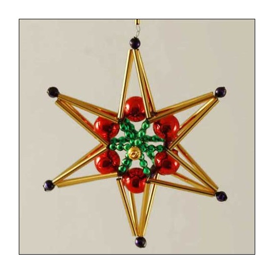 Braided Star Ornament Glass Bead Project Kit ~ Multi-Colored  ~ Czech Republic