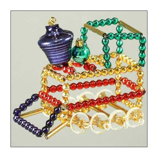 Train Ornament Glass Bead Project Kit ~ Multi-Colored  ~ Czech Republic