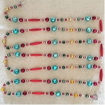 Traditional Multi-color Glass Bead Garland Project Kit ~ 75 inches long Completed