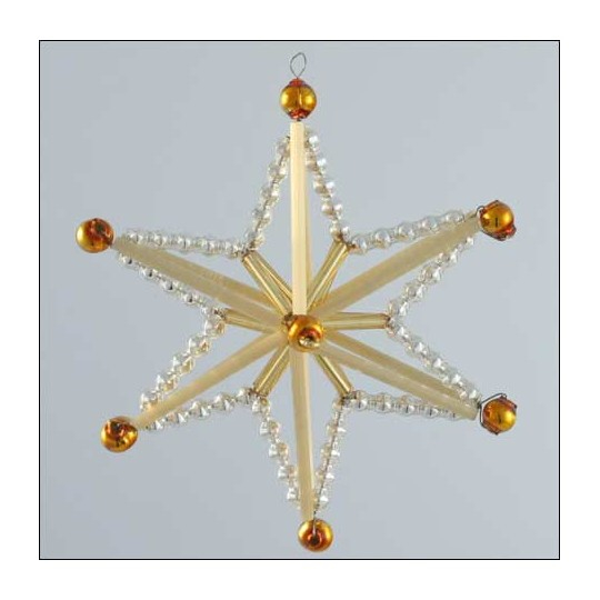 Magic Star Ornament Glass Bead Project Kit ~ Silver and Gold  ~ Czech Republic