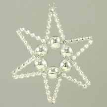 Basic Star Ornament Glass Bead Project Kit ~ Silver  ~ Czech Republic