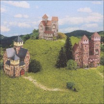 Three Petite Castles Paper Project Kit ~ Germany