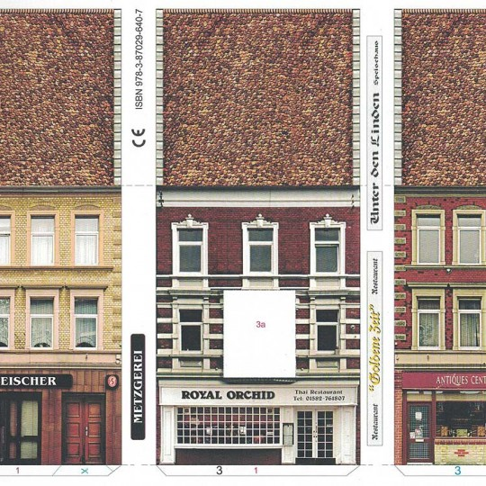 Three Old Town Buildings Paper Project Kit ~ Germany
