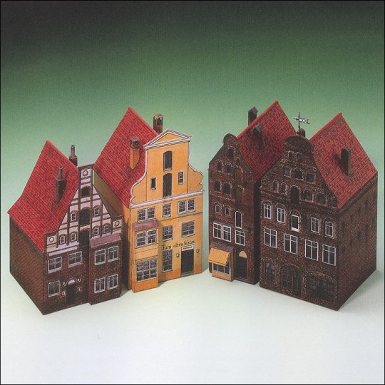 Two Petite Houses from Luneburg Paper Project Kit ~ Germany