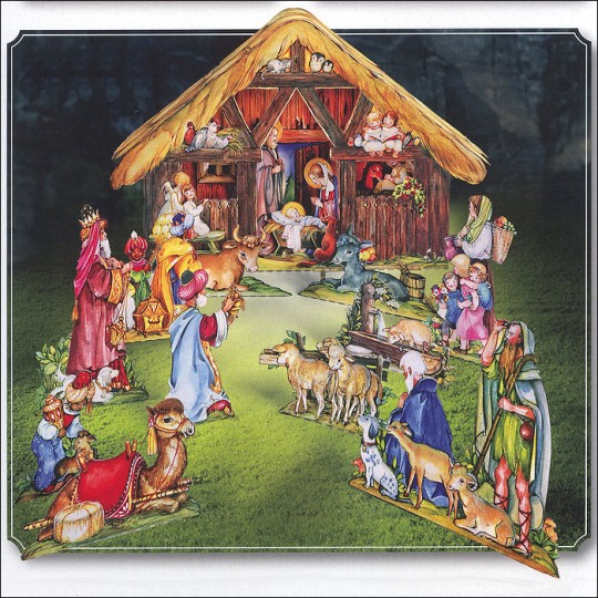 Paper Christmas Manger with Wise Men Project Kit ~ Germany