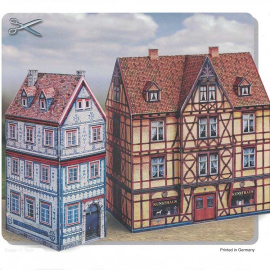 Two Old Town Buildings Paper Project Kit ~ Germany