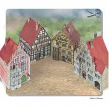 Hamelin Four Old Town Buildings Paper Project Kit ~ Germany