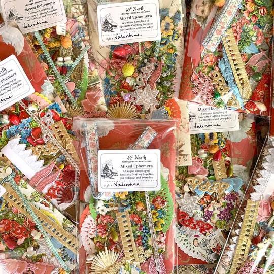 Ephemera Specialty Supplies Sampler ~ Valentine Theme