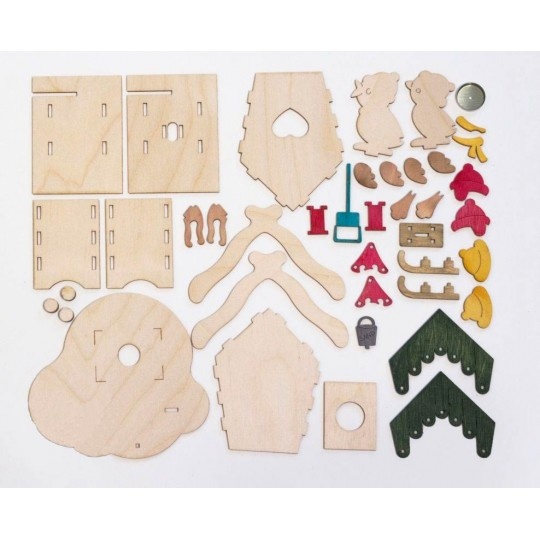 Wooden Bird House Incense Smoker DIY Project Kit ~ Germany