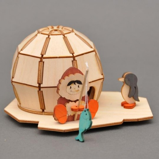 Wooden Igloo Incense Smoker DIY Project Kit ~ Germany