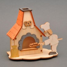 Wooden Baker and Oven Incense Smoker DIY Project Kit ~ Germany