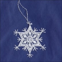 """Petite White Lace Pointed Snowflake Ornament ~ 2"""""""