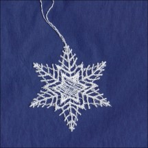 Petite White Lace Star Snowflake Ornament ~ 2-1/4""