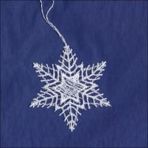 "Petite White Lace Star Snowflake Ornament ~ 2-1/4"""