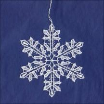 """White Lace Classic Snowflake Ornament ~ 3-1/8"""""""